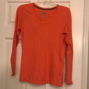 Coral Nike Dri-Fit Long Sleeve Tee